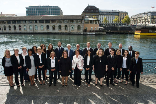 The ACE Trustees SA people in Geneva with Ariane Slinger